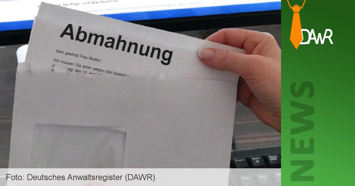 Dawr Der Richtige Umgang Mit Einer Abmahnung Deutsches
