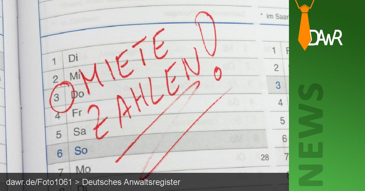 Dawr Mietrückstand Was Säumige Mieter Tun Sollten Deutsches